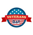 heroes veterans day logo flat style vector image