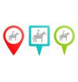 horse man pin icon multicolor pin icon vector image vector image
