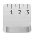Icon for ruler vector image vector image