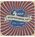independence day retro style vector image