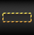 industrial banner on carbon background vector image vector image