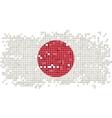 Japanese grunge tile flag vector image vector image