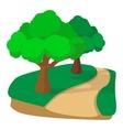 jogging track in park cartoon icon vector image