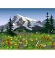 Landscape summer alpine medow poster vector image