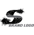 letter s splattered logo vector image