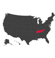 map of usa - tennessee vector image