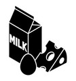 milk product icon simple style vector image