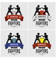 mma mixed martial arts logo design artwork of vector image vector image