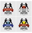 mma mixed martial arts logo design artwork vector image vector image