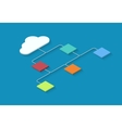 modern cloud computing infographics vector image