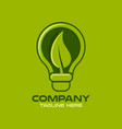 modern logo green lighting vector image