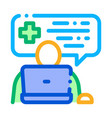 online diagnosis icon outline vector image vector image