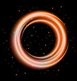 orange light shining circle banner vector image