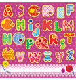 Patchwork ABC alphabet vector image