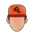 pizza clothes messenger vector image