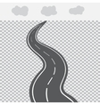 Receding into the distance the road with white vector image vector image
