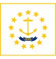 rhode islander state flag vector image vector image