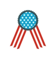 ribbon rosette in usa flag colors icon vector image vector image