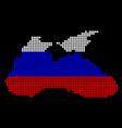 russia colors dot black sea map vector image vector image