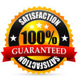 satisfaction guarantee seal stamp or badge with vector image