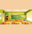 school laboratory classroom interior vector image