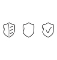 Security set icons vector image vector image