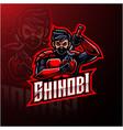 shinobi sport mascot logo design vector image vector image