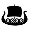 ship viking icon simple black style vector image
