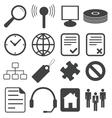 Simple black icon set 15 vector image vector image