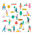 spring work set of people vector image vector image