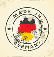 Stamp with map flag of Germany vector image