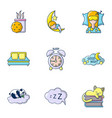 sweet dream icons set cartoon style vector image vector image