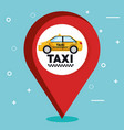 taxi service app smart transport travel vector image