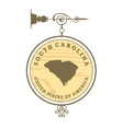 Vintage label South Carolina vector image vector image