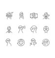 virtual and augmented reality icons set vector image vector image