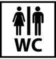 WC Icon vector image vector image