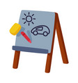 wooden easel for kids development and vector image