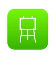 wooden easel icon digital green vector image vector image