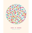 Colorful Branches Circle Decor Pattern Background vector image
