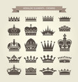heraldic crowns set - monarchy coronet blazon vector image