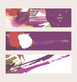 set with bright horizontal banners hand vector image