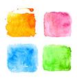 blue watercolor splatters vector image