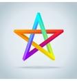 Colorful Inconceivable Pentagram vector image