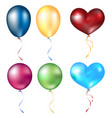 realistic different balloons set vector image