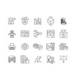 3d industry line icons signs set outline vector image vector image