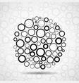 abstract ball of circles vector image vector image