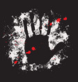 abstract banner with a handprint and spots vector image vector image