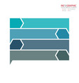 abstract element infographics 4 option design for vector image vector image