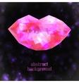 Abstract polygonal lips vector image