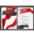 abstract red and black flyers brochure vector image vector image